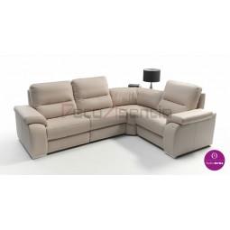 Sofá de piel modelo evora